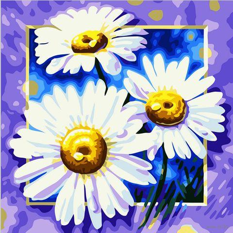 "Картина по номерам ""Три ромашки"" (400х500 мм)"