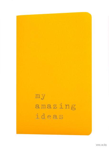 """Записная книжка Молескин """"Volant. My Amazing Ideas"""" в линейку (карманная; мягкая желтая обложка)"""