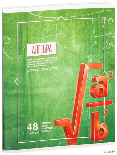 """Тетрадь полуобщая в клетку """"Алгебра"""" (48 листов) — фото, картинка"""