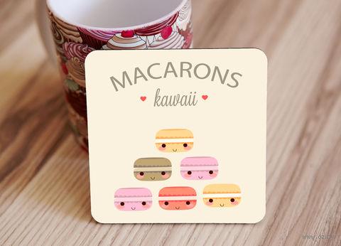 "Подставка под кружку ""Macarons"" (арт. 6) — фото, картинка"