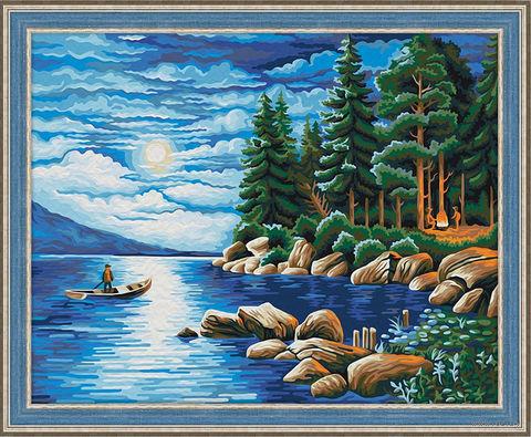 "Картина по номерам ""Ночь в лесу"" (400х500 мм) — фото, картинка"