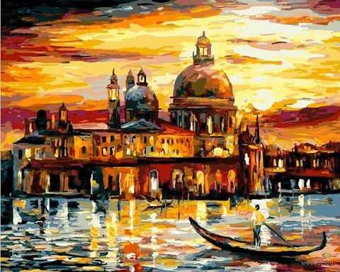 "Картина по номерам ""Золотое небо Венеции"" (500х650 мм) — фото, картинка"