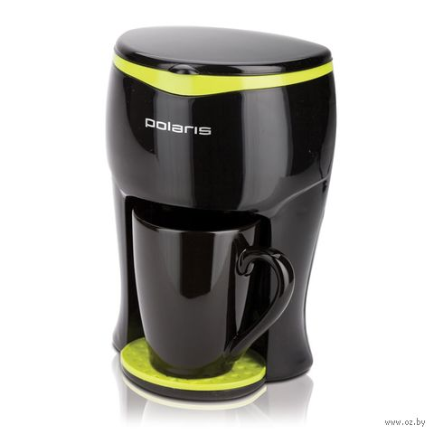 Кофеварка Polaris PCM 0109 (черно-зеленая) — фото, картинка