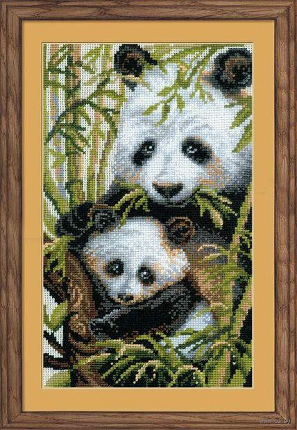 """Вышивка крестом """"Панда с детенышем"""" (арт. 1159)"""