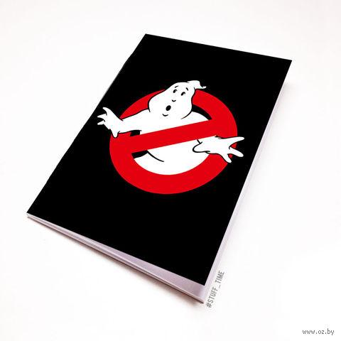 """Блокнот белый """"Охотники за привидениями"""" А6 (080)"""