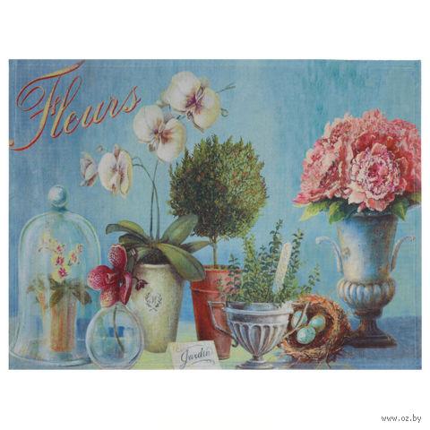 """Коврик для входной двери """"Цветы"""" (60х45 см, арт. 33115) — фото, картинка"""