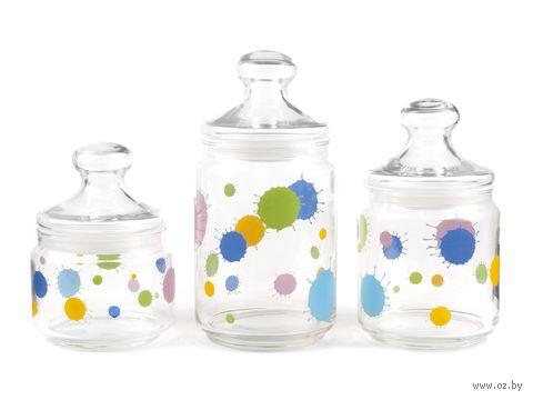 """Набор банок для сыпучих продуктов """"Splash"""" (3 шт.) — фото, картинка"""