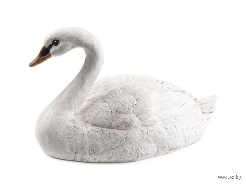 """Статуэтка пластмассовая """"Белый лебедь"""" (27х15х16 см) — фото, картинка"""