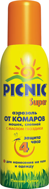 """Аэрозоль от комаров """"Picnic Super"""" — фото, картинка"""