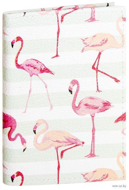 """Обложка на паспорт """"Фламинго"""" (арт. 11031) — фото, картинка"""