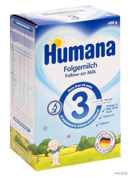 """Сухая молочная смесь Humana """"Folgemich 3"""" (600 г) — фото, картинка"""