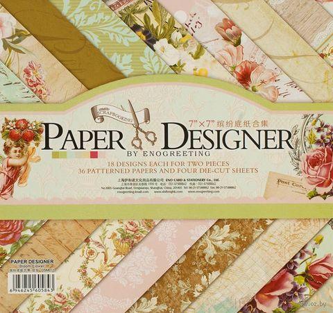 """Набор бумаги для скрапбукинга """"Вальс цветов"""" (175х175 мм) — фото, картинка"""