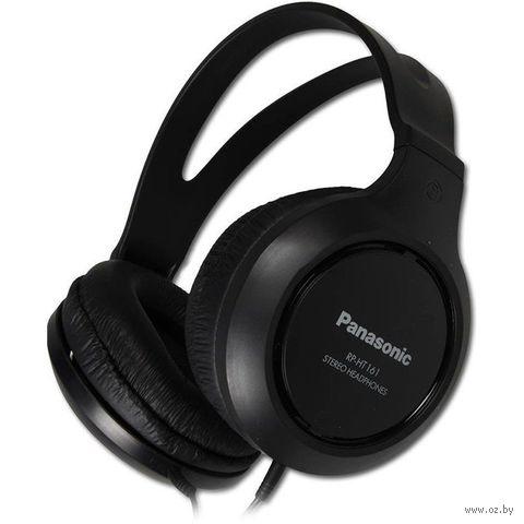 Наушники Panasonic RP-HT161E-K (черные) — фото, картинка