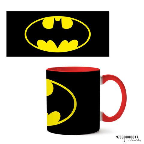 """Кружка """"Бэтмен из вселенной DC"""" (красная; арт. 047) — фото, картинка"""