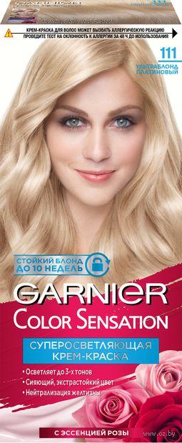 """Крем-краска для волос """"Color Sensation"""" (тон: 111, ультраблонд платиновый) — фото, картинка"""