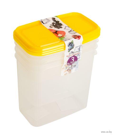 """Набор контейнеров """"Venecia"""" (3 шт.; лимон) — фото, картинка"""