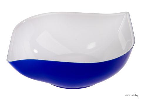 """Салатник двухцветный """"Estel"""" (0,5 л; синий полупрозрачный) — фото, картинка"""