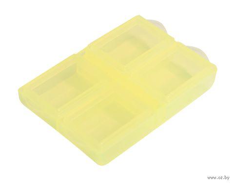 Органайзер для рукоделия (желтый; 4 отделения) — фото, картинка