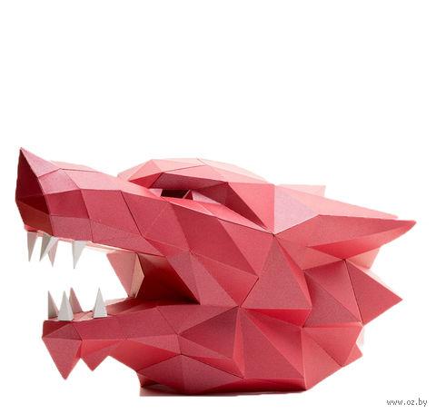 """3D-конструктор """"Маска Волк"""" (красный) — фото, картинка"""