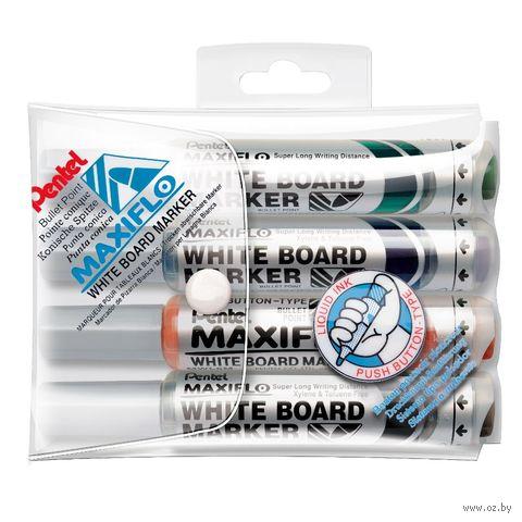 """Набор маркеров для досок """"Maxiflo"""" (4 шт.)"""