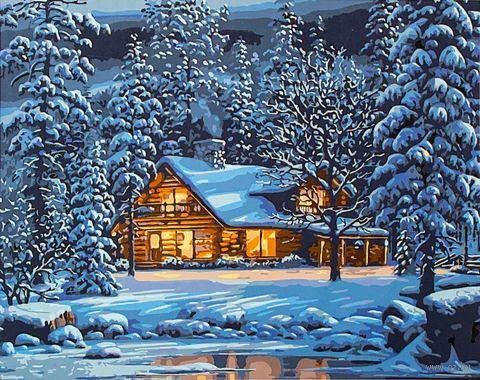 "Картина по номерам ""Зимним вечером"" (400х500 мм) — фото, картинка"