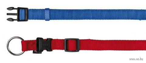 """Ошейник нейлоновый для собак """"Premium Collar"""" (размер M-L, 35-55 см, синий)"""
