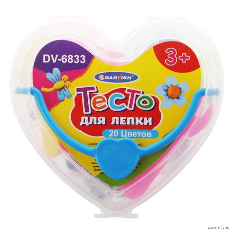 """Тесто для лепки """"Darvish. Сердце"""" (20 цветов) — фото, картинка"""