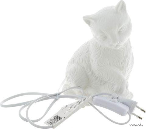 "Лампа-ночник ""Кошка с клубочком"" (14x9,5x19,5 см; арт. 41621) — фото, картинка"