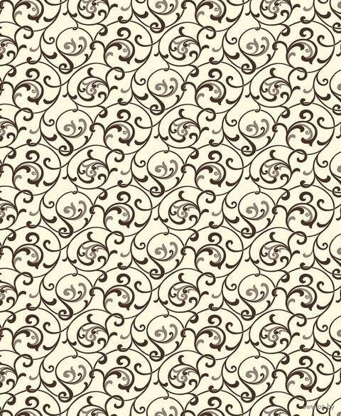 """Простыня хлопковая на резинке """"Завитки пломбир"""" (160х200 см) — фото, картинка"""