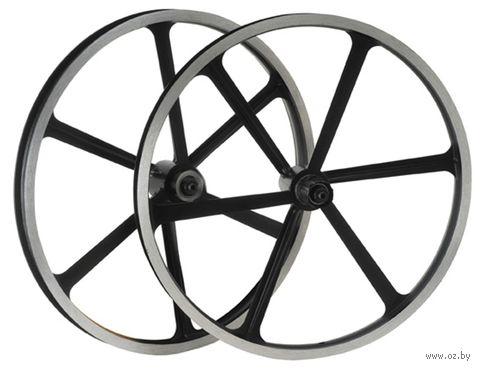 """Комплект велосипедных колёс """"TAFD/CASET-6000"""" (чёрный) — фото, картинка"""