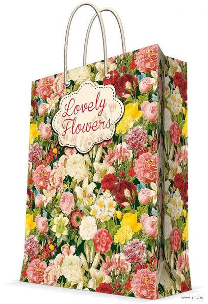 """Пакет бумажный подарочный """"Райский сад"""" (17,8х22,9х9,8 см; арт. 43517) — фото, картинка"""