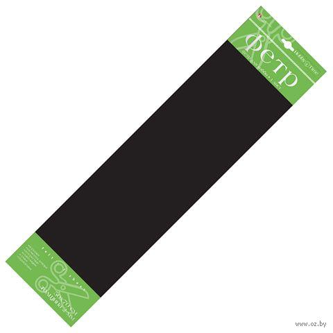 Фетр (50х70 cм; черный) — фото, картинка