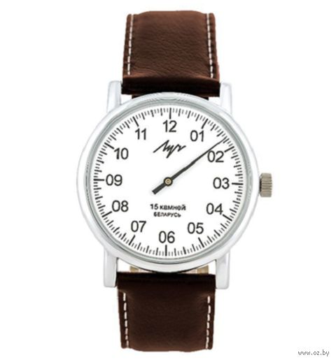 """Часы наручные """"Однострелочник"""" (коричневые; арт. 77471146) — фото, картинка"""
