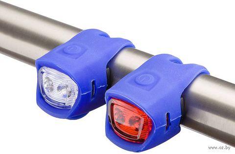 """Комплект фонарей для велосипеда """"Y-3204F+JY-3204T"""" (синий) — фото, картинка"""