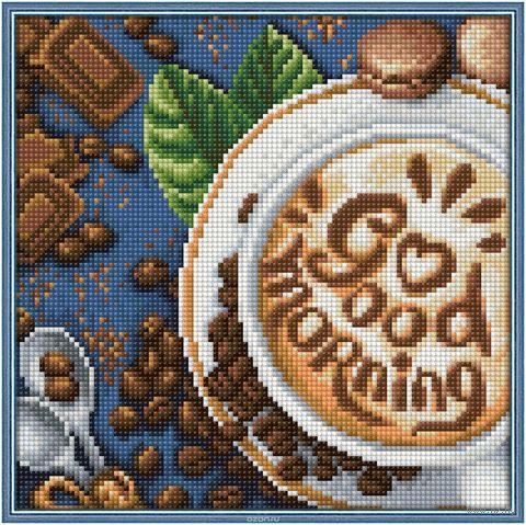 """Алмазная вышивка-мозаика """"Доброе утро"""" (250х250 мм) — фото, картинка"""