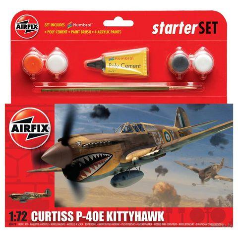 """Начальный набор """"Истребитель Curtiss P-40E Kittyhawk"""" (масштаб: 1/72) — фото, картинка"""
