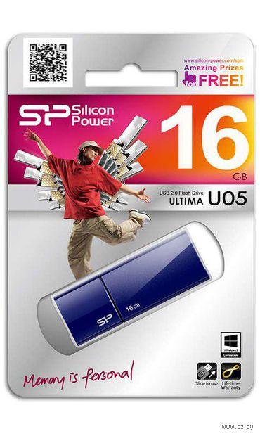 USB Flash Drive 16Gb Silicon Power Ultima U05 (Blue)