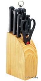 Набор ножей металл/пластмасса в деревянной подставке (7 предметов, арт. MS-11K120)