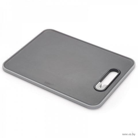 "Доска разделочная с ножеточкой ""Slice&Sharpen"" (370х280х10 мм; черная) — фото, картинка"