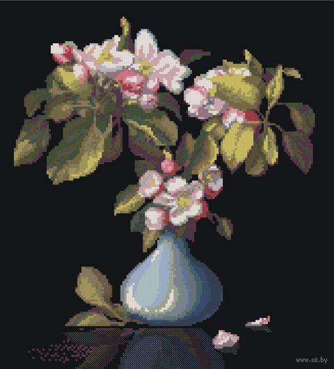 "Вышивка крестом ""Голубая ваза"" (340x360 мм ) — фото, картинка"