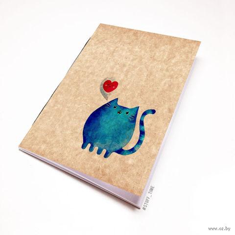 "Блокнот крафт ""Милый котик"" А5 (808)"