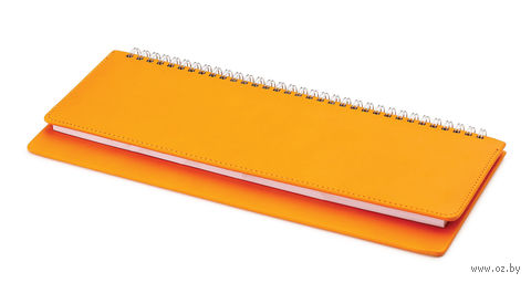 "Планинг датированный ""Velvet"" (305х130 мм; оранжевый; 2018) — фото, картинка"