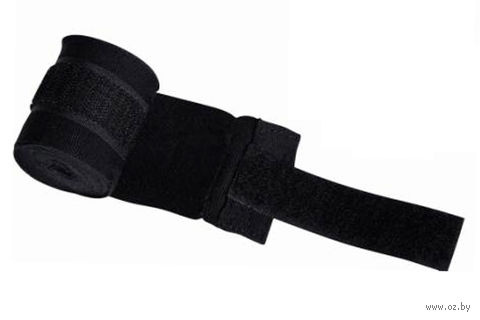 Бинт боксёрский С-311 (4,5 м; эластик; чёрный) — фото, картинка