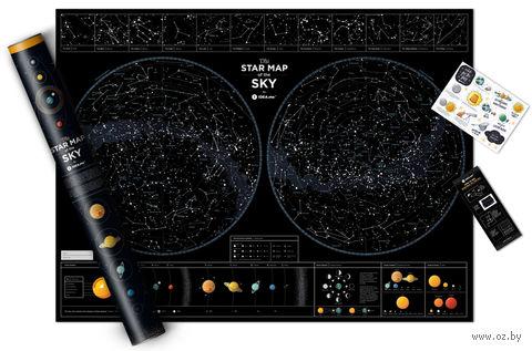 "Интерактивная карта ""Star Map of the Sky"" (800х600 мм) — фото, картинка"