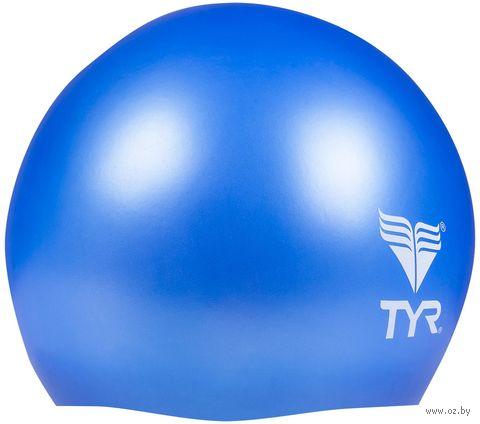 "Шапочка для плавания ""Wrinkle Free Junior Silicone Cap"" (голубая) — фото, картинка"