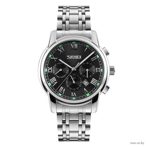 Часы наручные (чёрные; арт. 9121) — фото, картинка