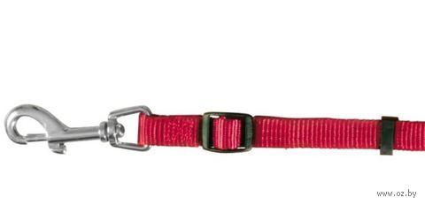 """Поводок регулируемый для собак """"Classic"""" (размер XS, 120-180 см, красный, арт. 14103)"""