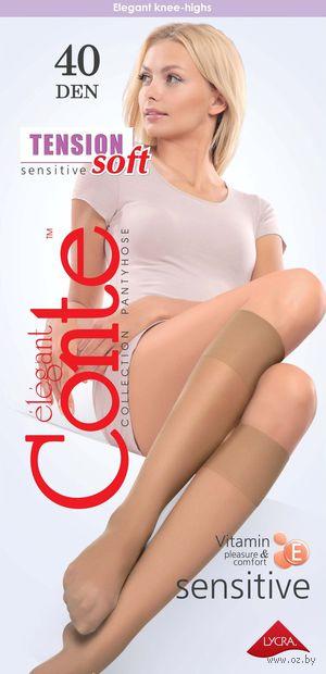 """Гольфы женские полиамидные """"Conte. Tension soft 40"""" — фото, картинка"""