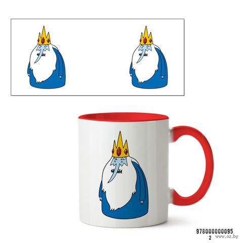 """Кружка """"Ледяной король. Время приключений"""" (095, красная)"""