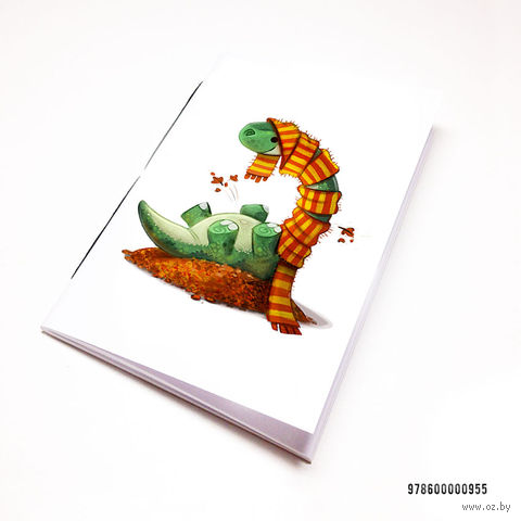 "Блокнот белый ""Динозаврик"" А7 (955)"